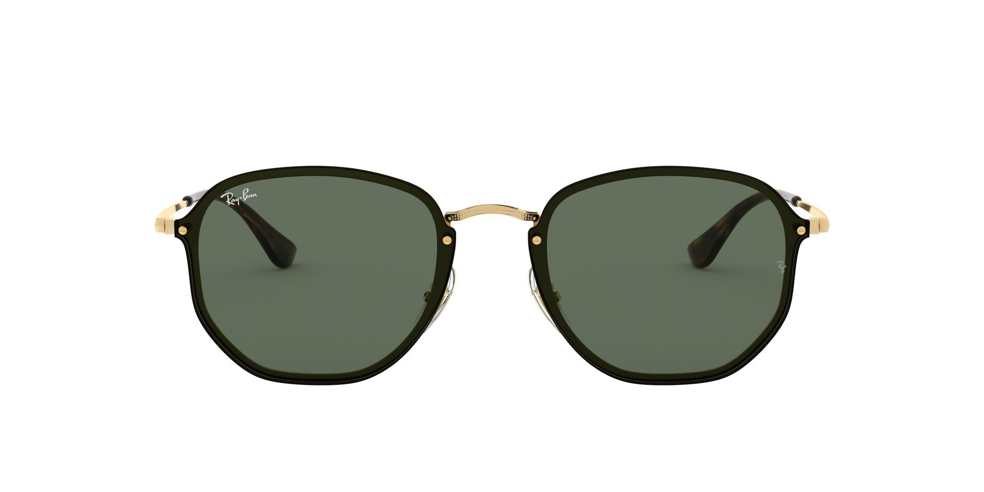 Ray Ban - RB3579N Gold Oval Unisex Sunglasses - 58mm-Sunglasses-Designer Eyes