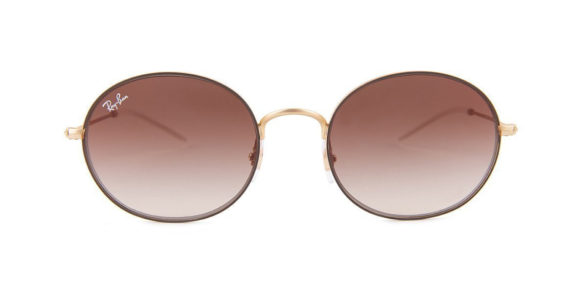 Ray Ban - RB3594 Brown Round Women Sunglasses - 53mm-Sunglasses-Designer Eyes