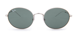Ray Ban - RB3594 Silver Round Men Sunglasses - 53mm-Sunglasses-Designer Eyes