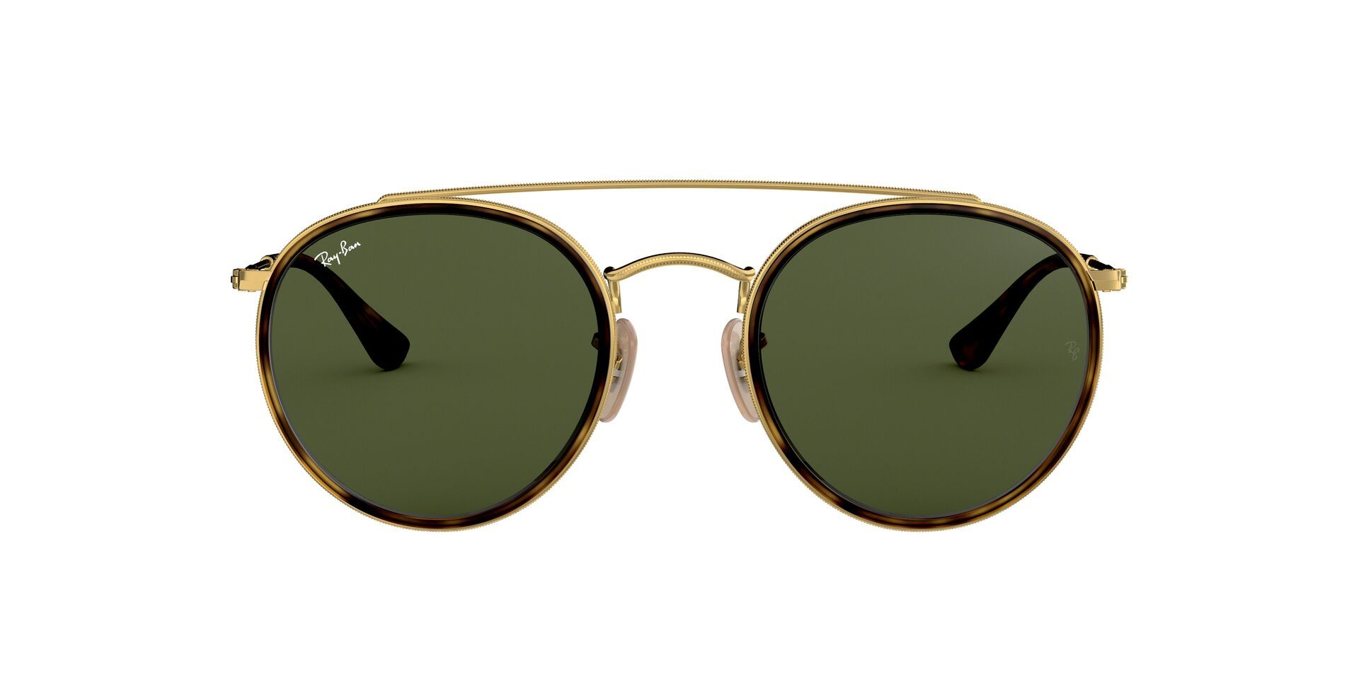 Ray Ban - RB3647-N Gold Oval Unisex Sunglasses - 51mm-Sunglasses-Designer Eyes