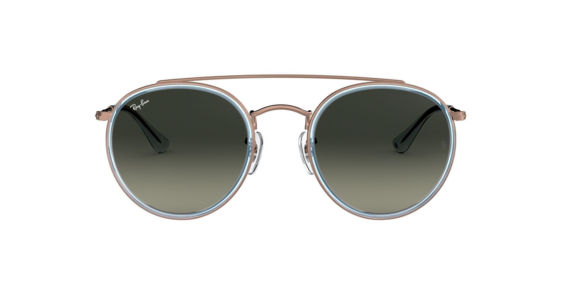 Ray Ban - RB3647N Bronze Oval Unisex Sunglasses - 51mm-Sunglasses-Designer Eyes