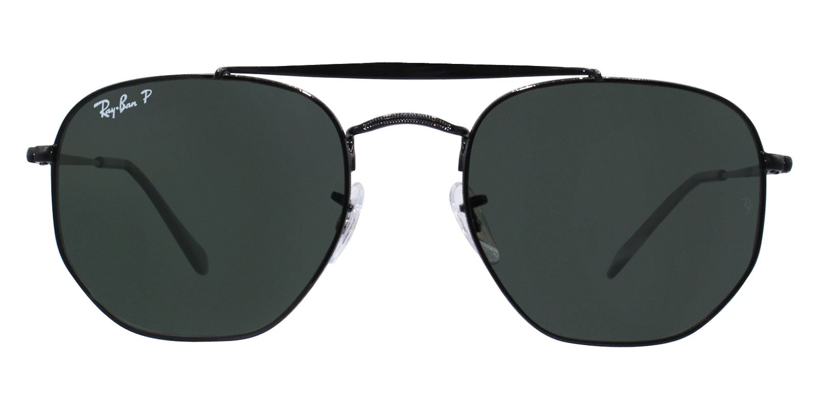 Ray Ban - RB3648 Black Oval Unisex Sunglasses - 54mm-Sunglasses-Designer Eyes