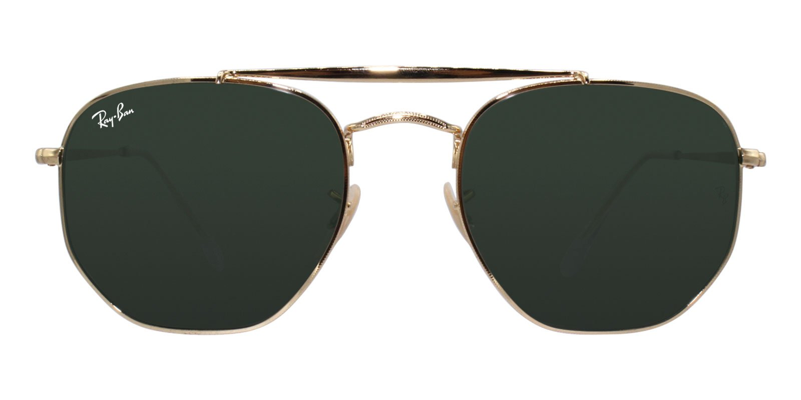 Ray Ban - RB3648 Gold Oval Unisex Sunglasses - 54mm