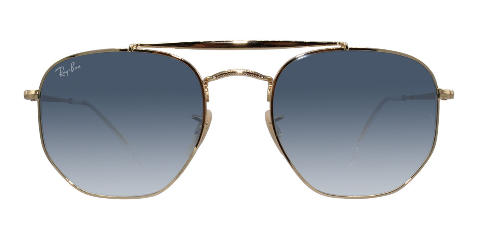 Ray Ban - RB3648 Gold Oval Unisex Sunglasses - 54mm-Sunglasses-Designer Eyes