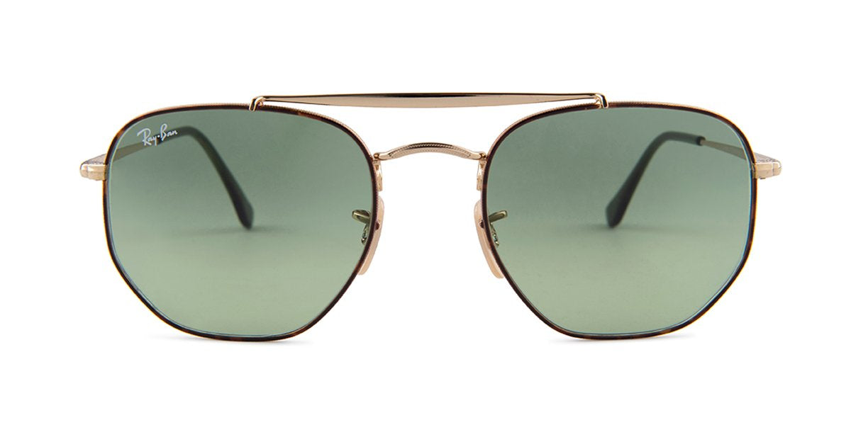 Ray Ban - RB3648 Havana Square Women Sunglasses - 54mm-Sunglasses-Designer Eyes