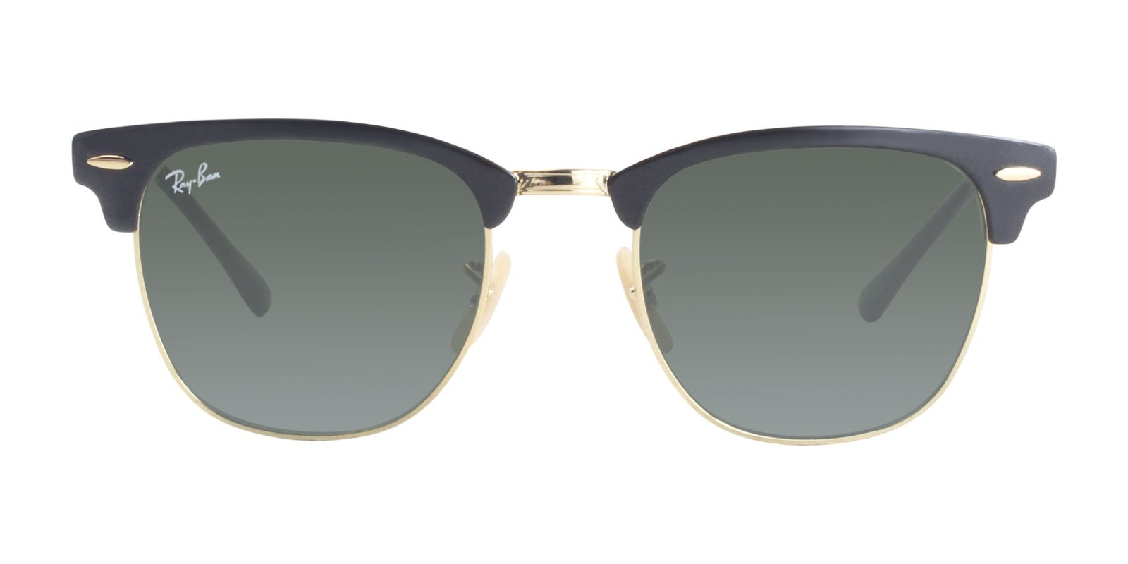 Ray Ban - RB3716 Black Gold Rectangular Unisex Sunglasses - 51mm-Sunglasses-Designer Eyes