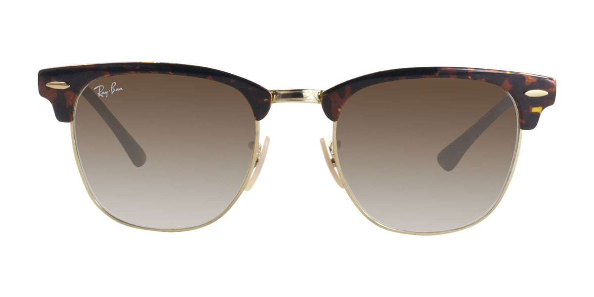 Ray Ban - RB3716 Tortoise Gold Rectangular Unisex Sunglasses - 51mm-Sunglasses-Designer Eyes