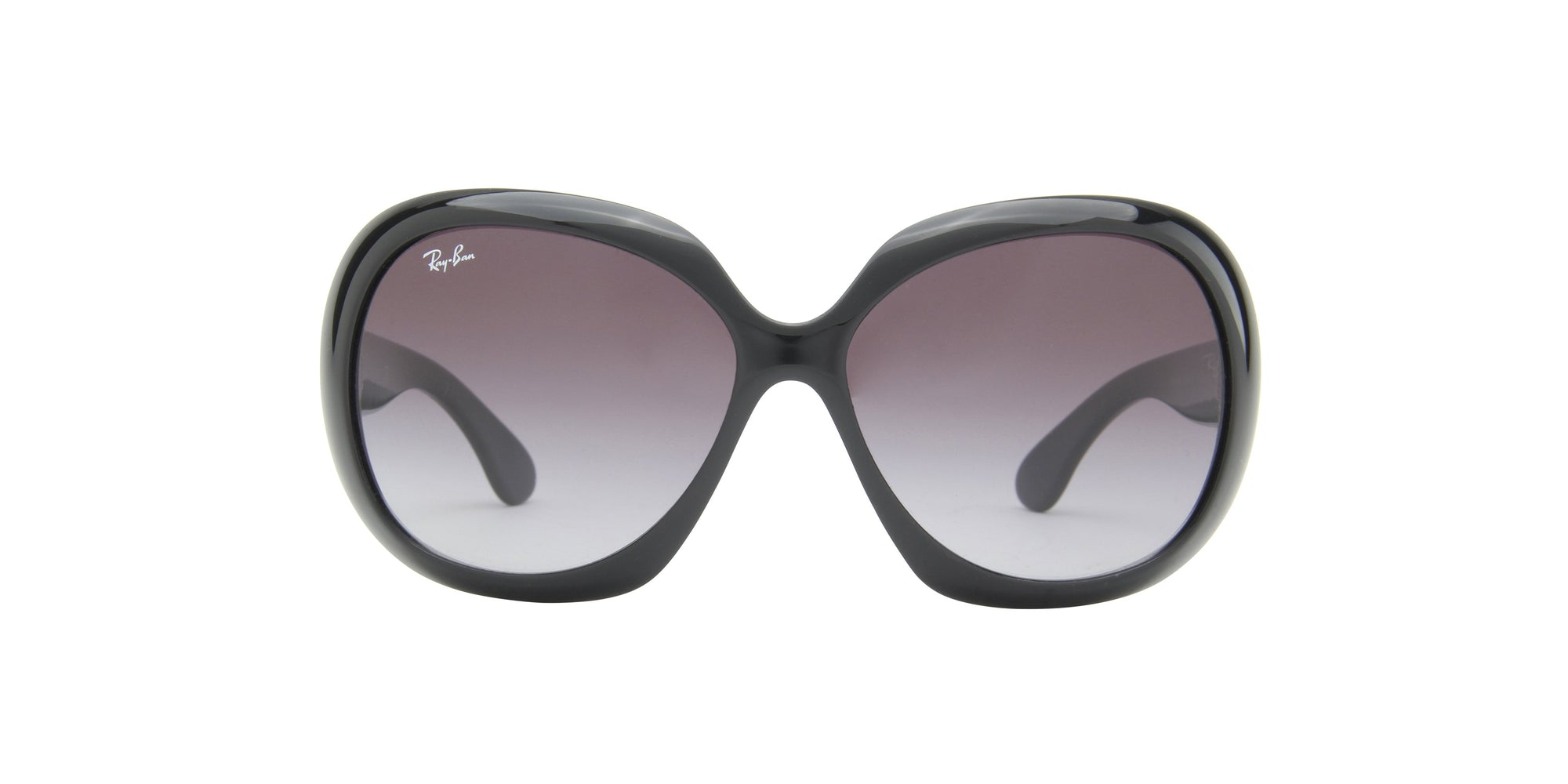 Ray Ban - RB4098 Black Oval Unisex Sunglasses - 60mm-Sunglasses-Designer Eyes