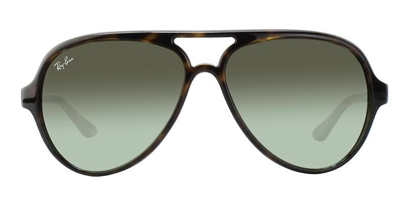 Ray Ban - RB4125 Tortoise Aviator Unisex Sunglasses - 59mm-Sunglasses-Designer Eyes