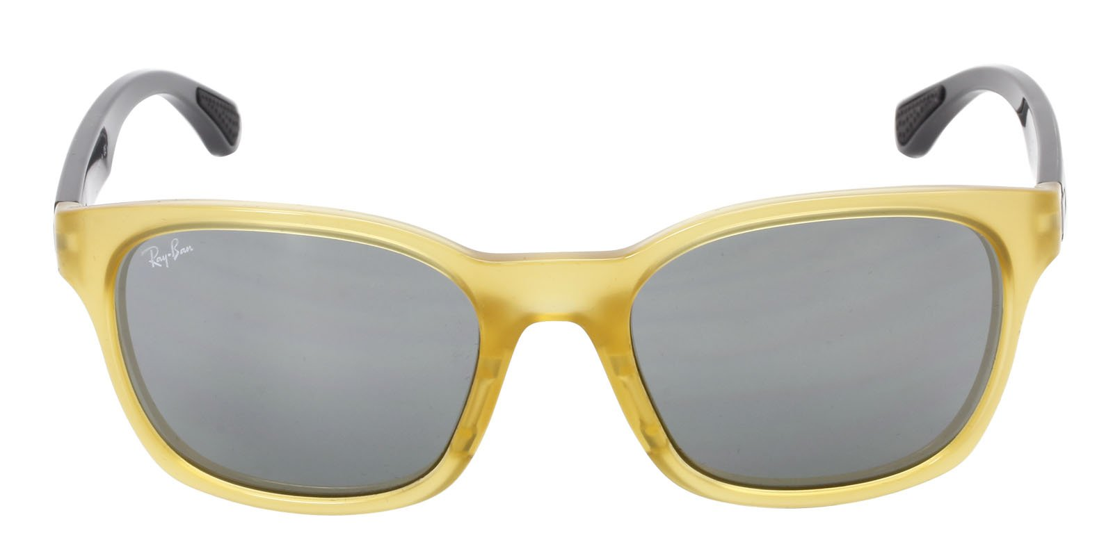 Ray Ban - RB4197 Yellow Oval Unisex Sunglasses - 56mm-Sunglasses-Designer Eyes