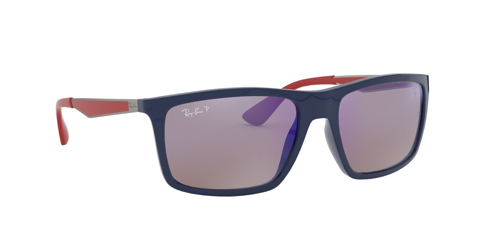 Ray Ban - RB4228M Blue Rectangular Men Sunglasses - 58mm-Sunglasses-Designer Eyes