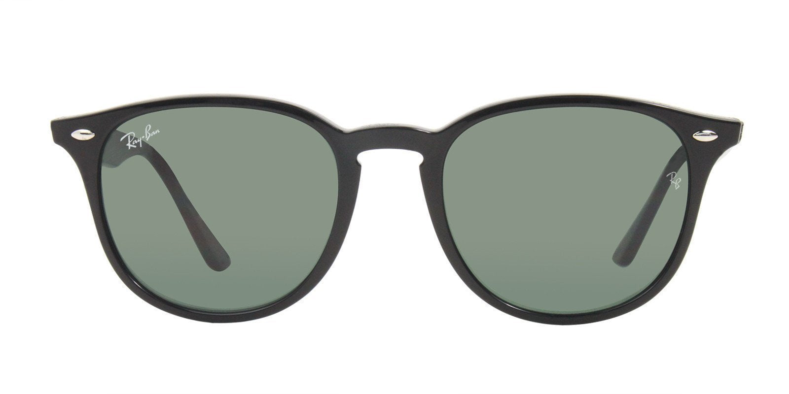 Ray Ban - RB4259 Black Oval Unisex Sunglasses - 51mm-Sunglasses-Designer Eyes