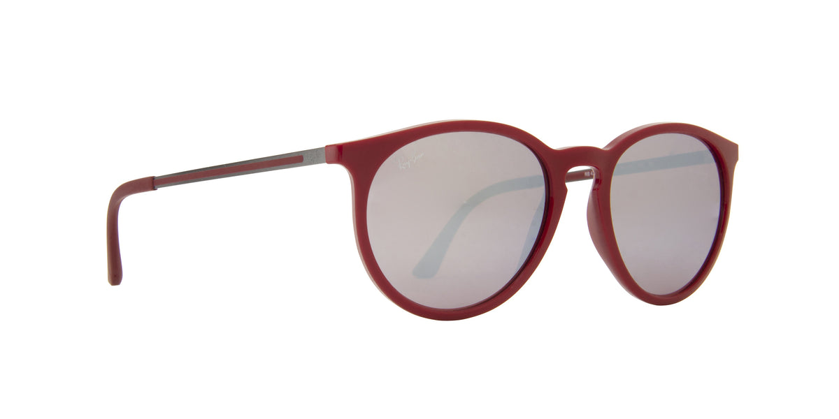 Ray Ban - RB4274 Burgundy Oval Women Sunglasses - 53mm-Sunglasses-Designer Eyes