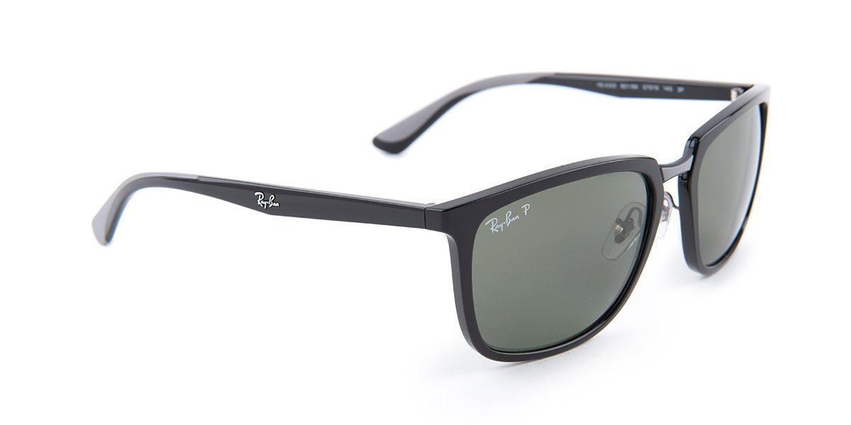Ray Ban - RB4303 Black Square Men Sunglasses - 57mm-Sunglasses-Designer Eyes