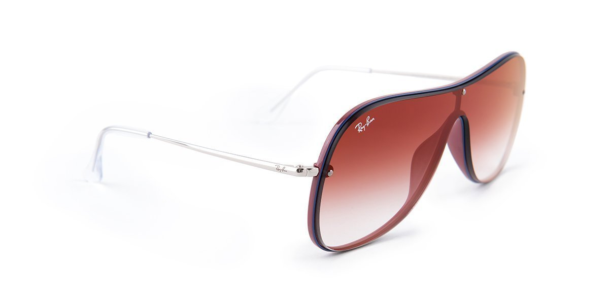Ray Ban - RB4311-N Blue / Red Shield Women Sunglasses - mm-Sunglasses-Designer Eyes