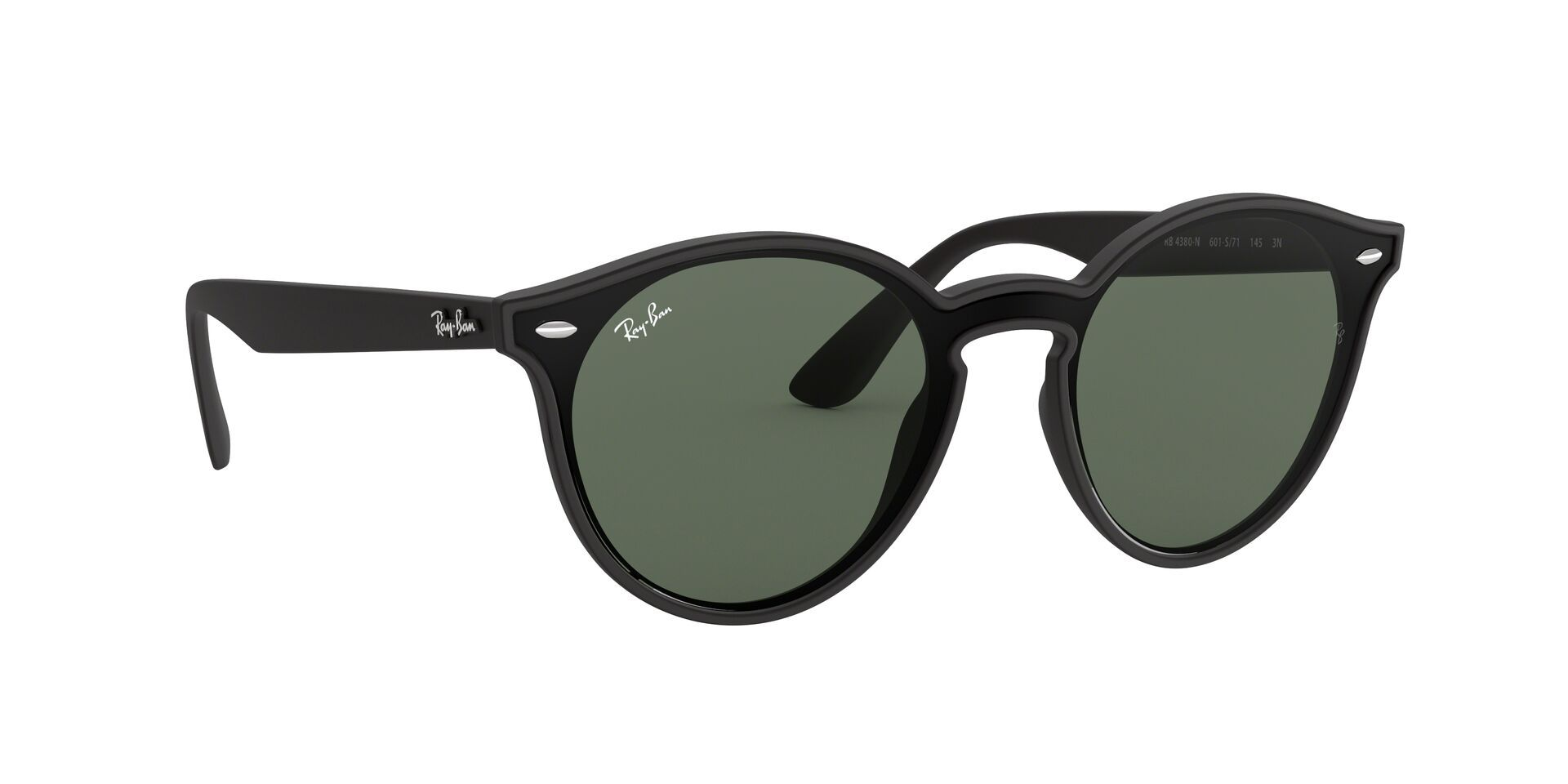 Ray Ban - RB4380N Black Shield Unisex Sunglasses - mm-Sunglasses-Designer Eyes