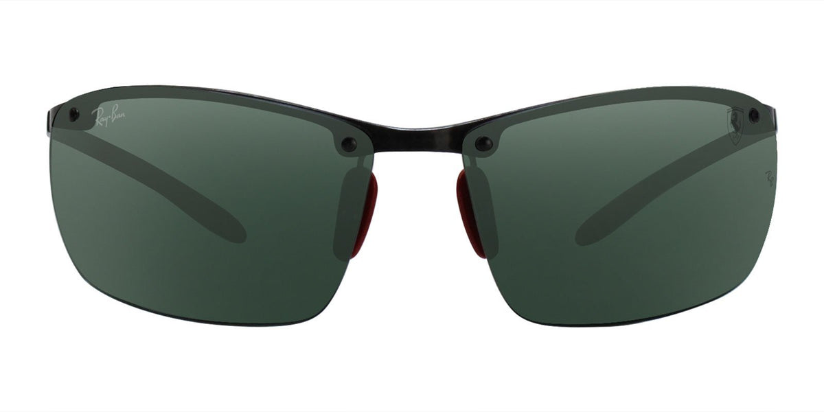 Ray Ban - RB8305M Dark Carbon Rectangular Men Sunglasses - 65mm-Sunglasses-Designer Eyes