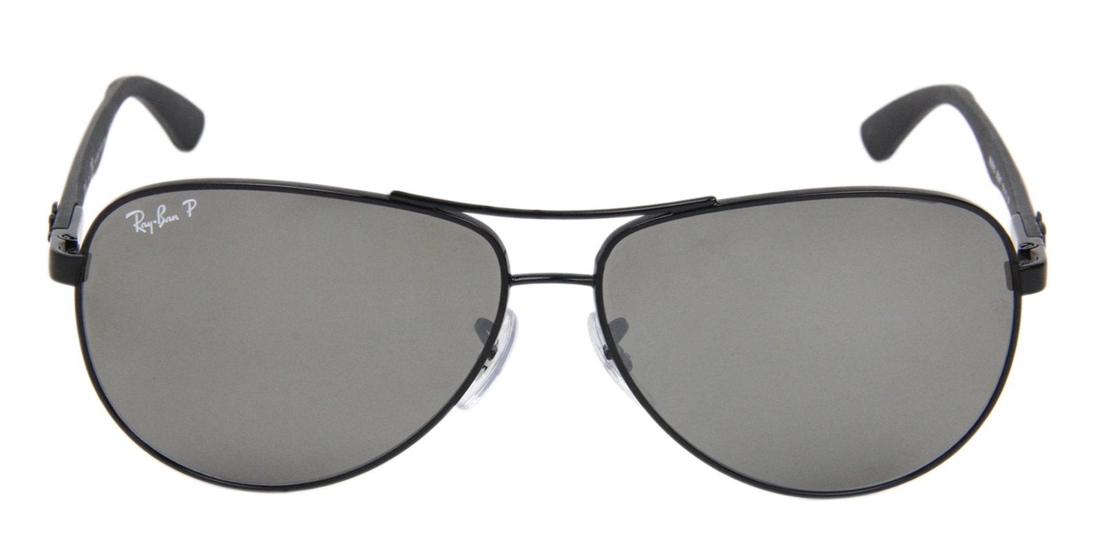 Ray Ban - RB8313 Black Aviator Men Sunglasses - 61mm-Sunglasses-Designer Eyes
