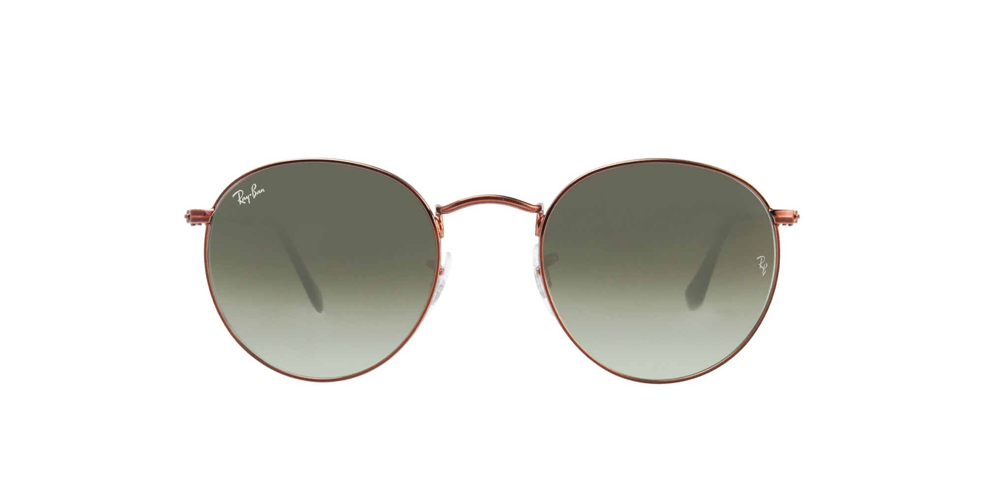 Ray Ban - Round Metal Bronze Oval Unisex Sunglasses - 50mm-Sunglasses-Designer Eyes