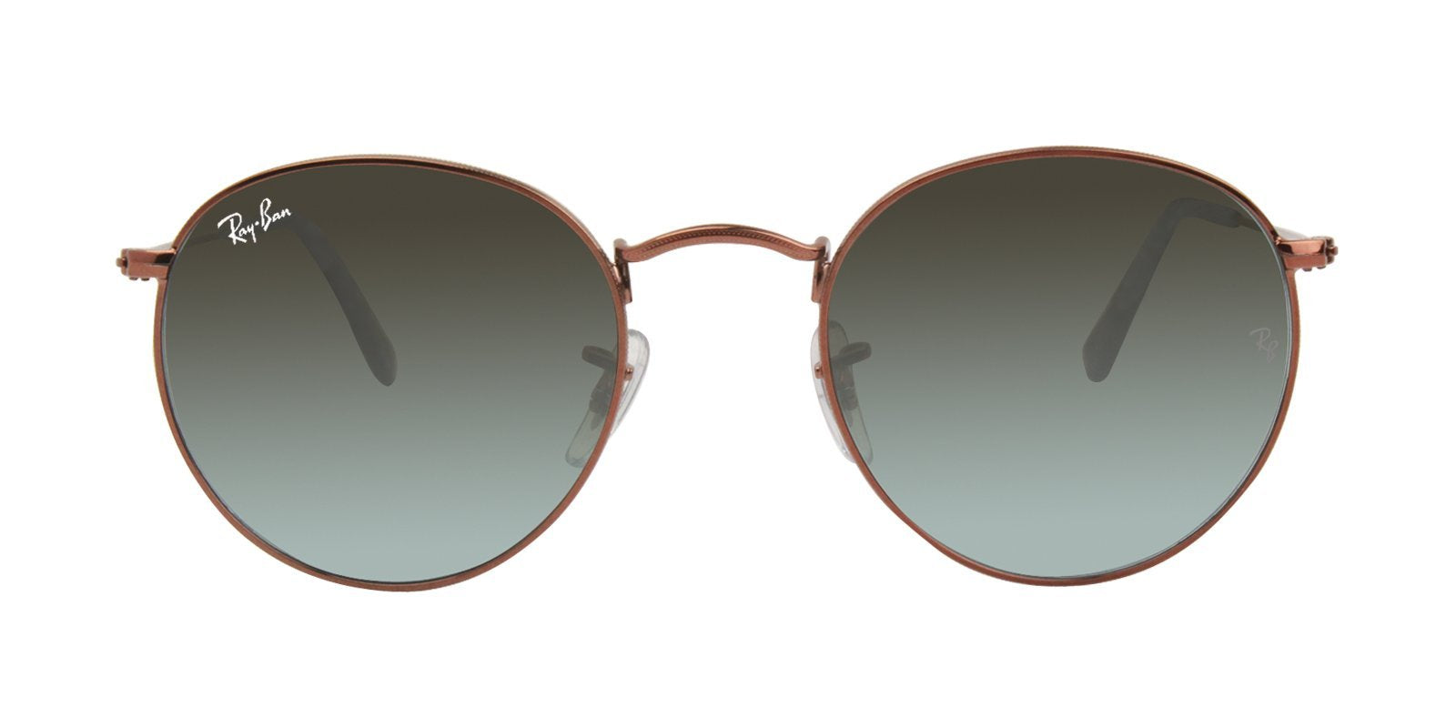 Ray Ban - Round Metal Brown Oval Unisex Sunglasses - 50mm-Sunglasses-Designer Eyes