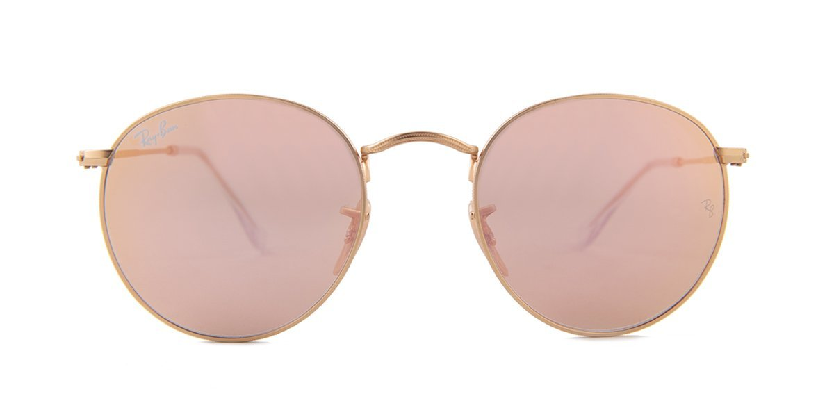 Ray Ban - Round Metal Gold Oval Women Sunglasses - 50mm-Sunglasses-Designer Eyes