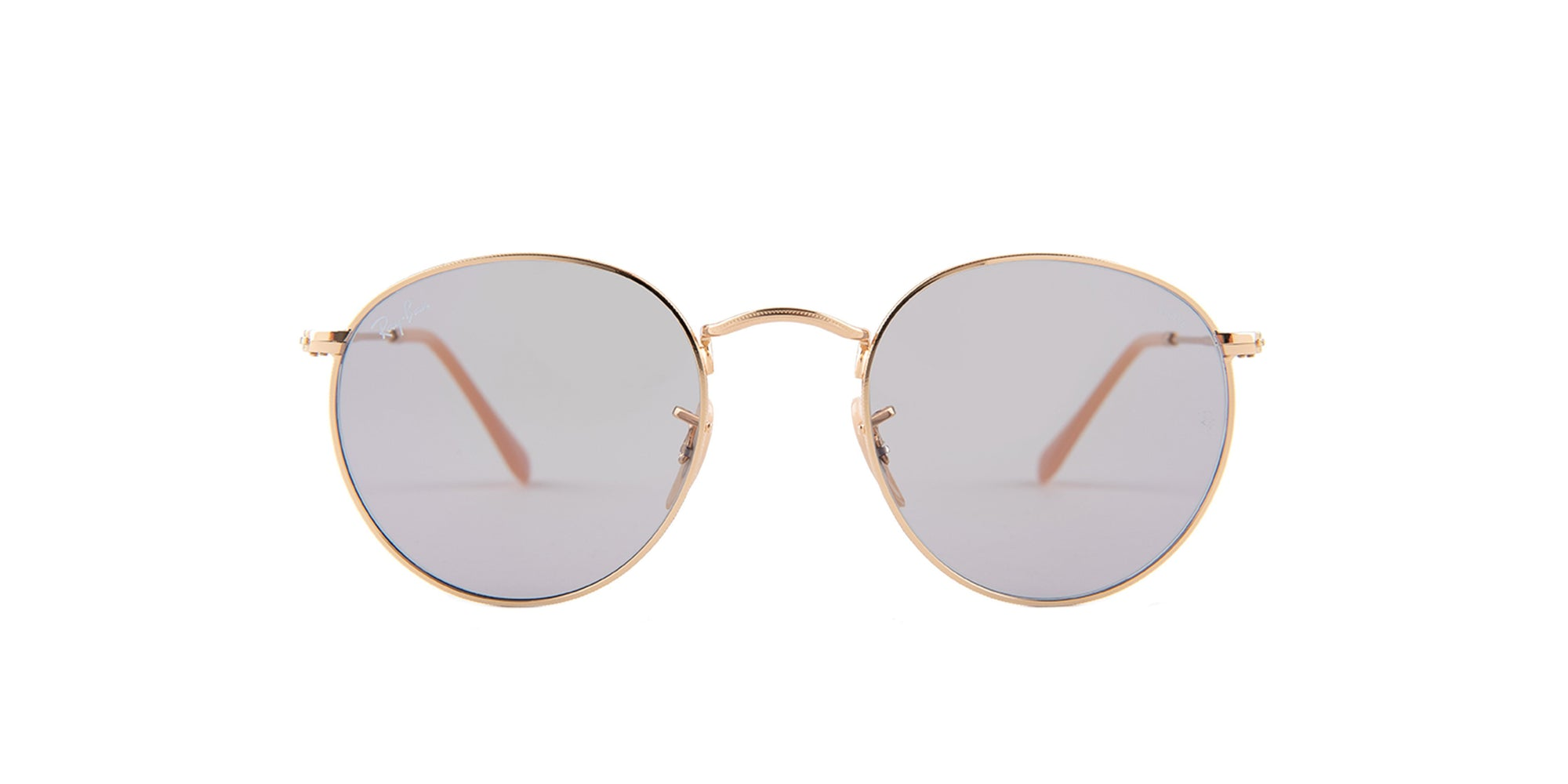 Ray Ban - Round Metal Gold Round Women Sunglasses - 50mm-Sunglasses-Designer Eyes