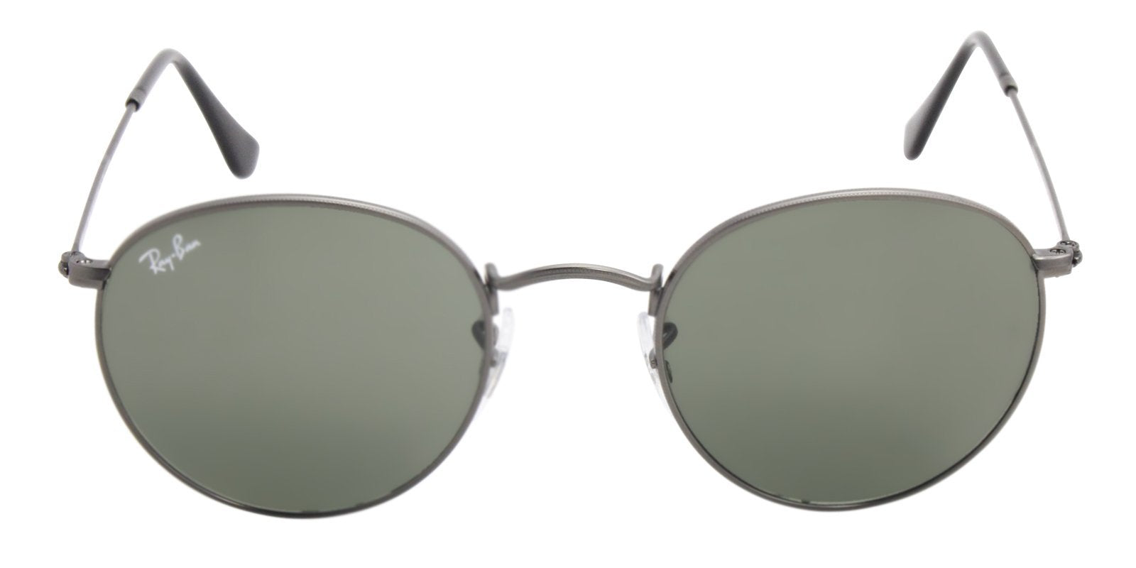 Ray Ban - Round Metal Gray Oval Unisex Sunglasses - 50mm-Sunglasses-Designer Eyes