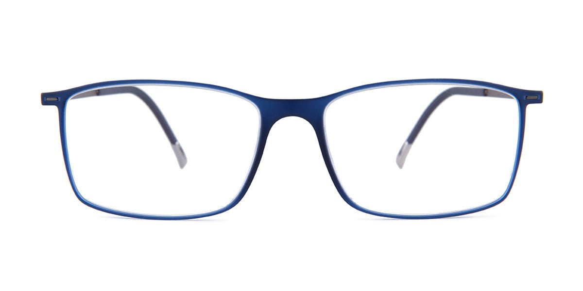 Silhouette - 2902 Blue Square Men Eyeglasses - mm-Eyeglasses-Designer Eyes