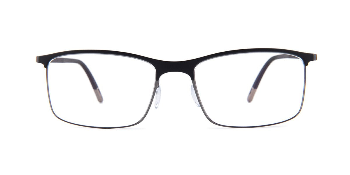 Silhouette - 2904 Black Square Men Eyeglasses - mm-Eyeglasses-Designer Eyes