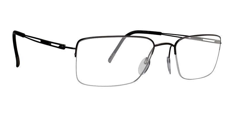 Silhouette - 5278 40 Bronze Semi-Rimless Men, Women Eyeglasses - 53mm-Eyeglasses-Designer Eyes