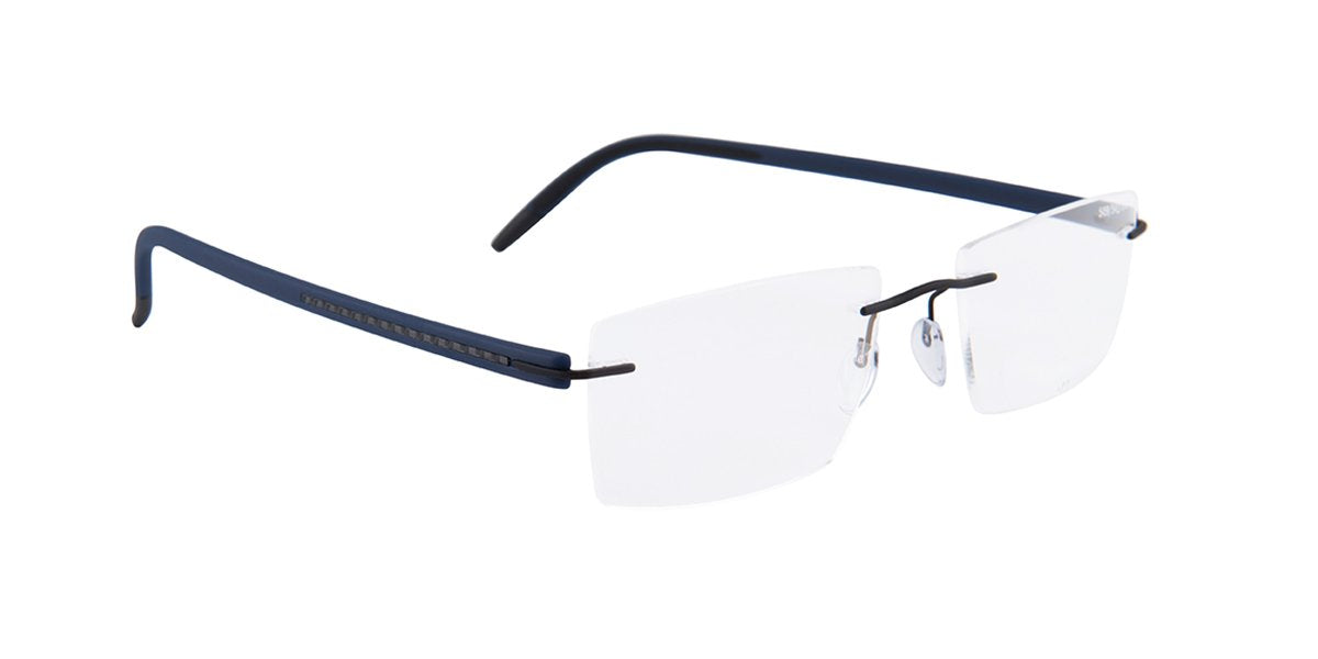Silhouette - 5459 40 Black / Blue-eyeglasses-Designer Eyes
