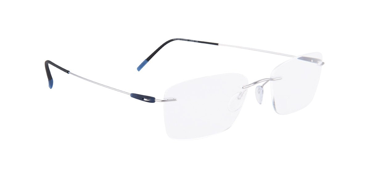 Silhouette - S5500/AV Gray Rimless Unisex Eyeglasses - 53mm-Eyeglasses-Designer Eyes