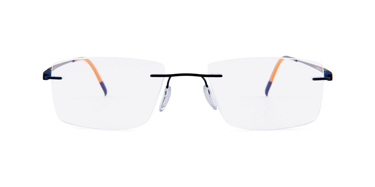 Silhouette - S5502/BP Blue Rimless Unisex Eyeglasses - 52mm-Eyeglasses-Designer Eyes