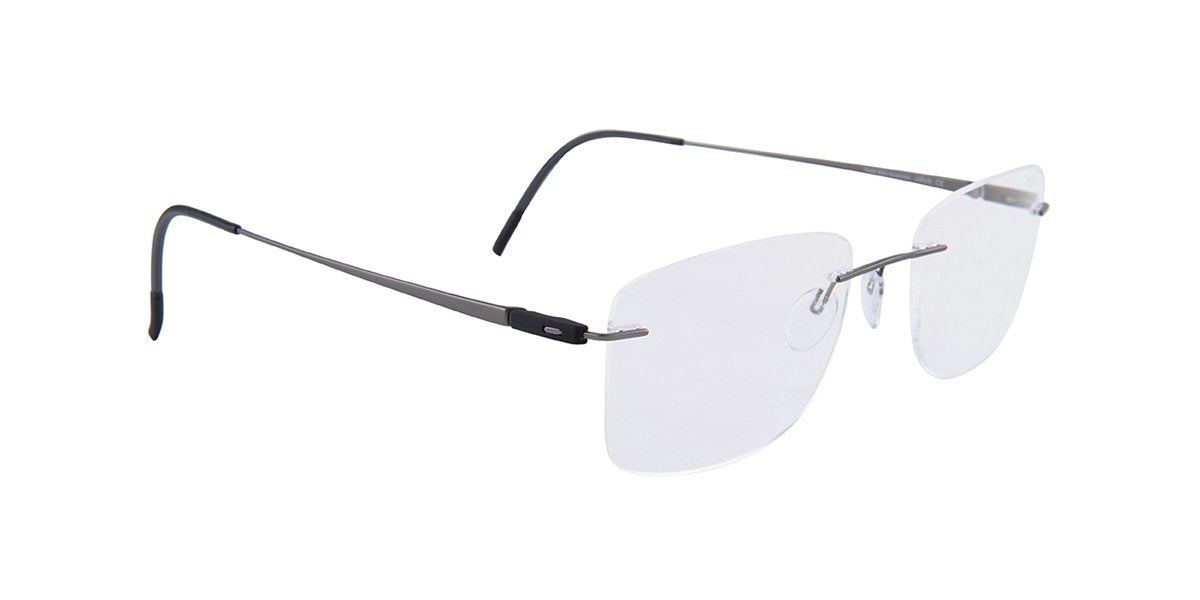 Silhouette - S5502/BS Gray Rimless Men Eyeglasses - 55mm-Eyeglasses-Designer Eyes
