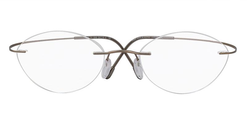 Silhouette - S5515CV Gray Rimless Women Eyeglasses - 50mm-Eyeglasses-Designer Eyes