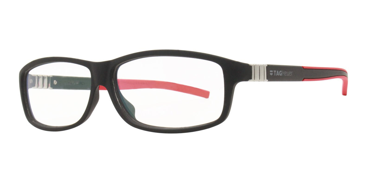 Tag Heuer - TH9313 Black Rectangular Men Eyeglasses - 61mm-Eyeglasses-Designer Eyes