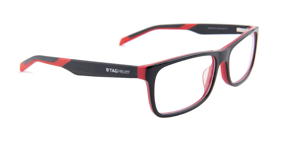 Tagheuer - TH0551 Black Rectangular Men Eyeglasses - 57mm-Eyeglasses-Designer Eyes