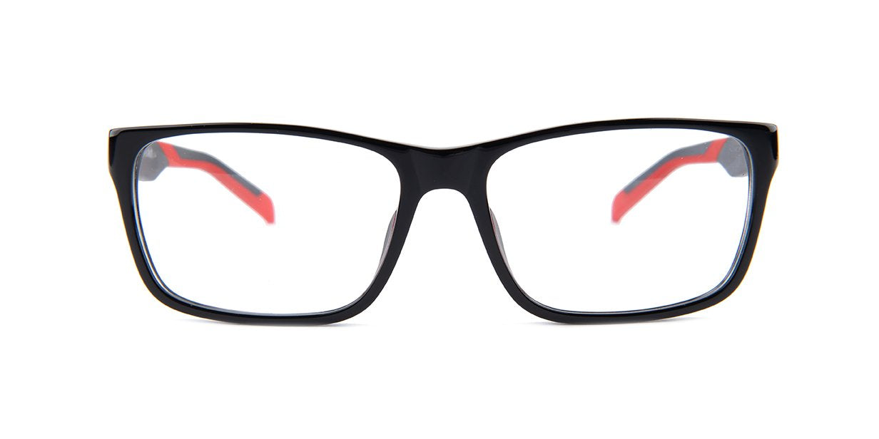 Tagheuer - TH0552 Black Rectangular Men Eyeglasses - 57mm-Eyeglasses-Designer Eyes