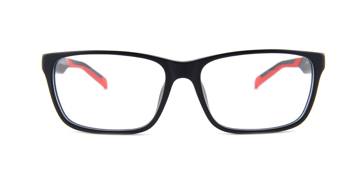 Tagheuer - TH0552 Black Rectangular Men Eyeglasses - 59mm-Eyeglasses-Designer Eyes