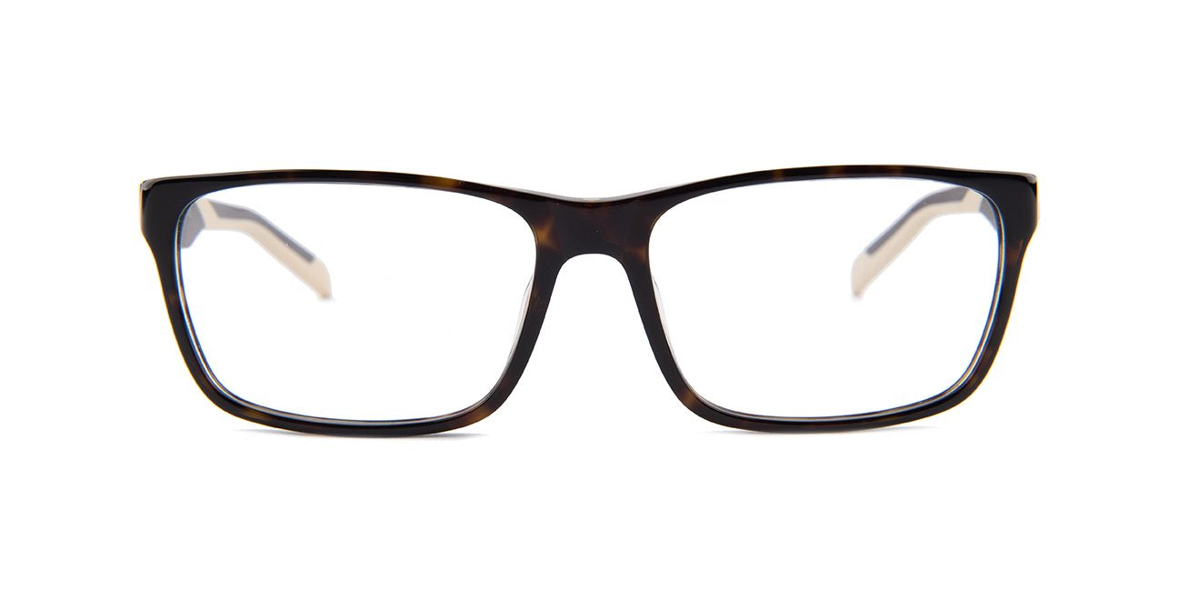 Tagheuer - TH0552 Brown Rectangular Men Eyeglasses - 57mm-Eyeglasses-Designer Eyes