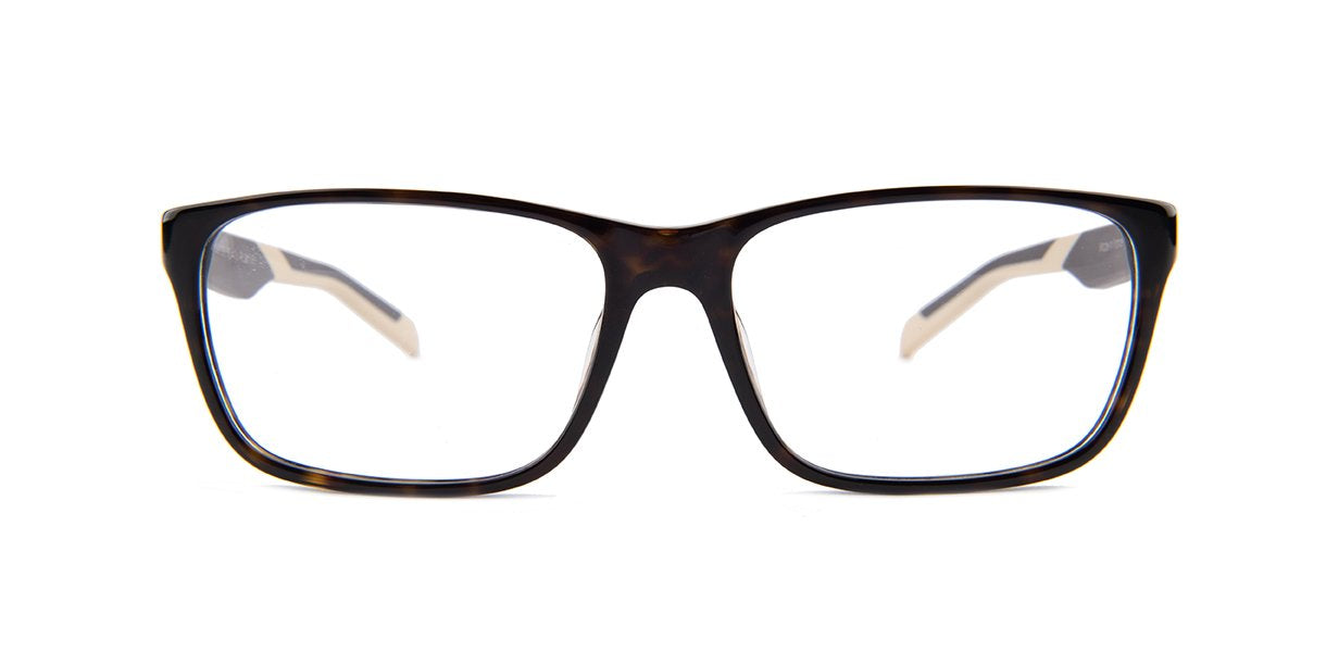 Tagheuer - TH0552 Brown Rectangular Men Eyeglasses - 59mm-Eyeglasses-Designer Eyes