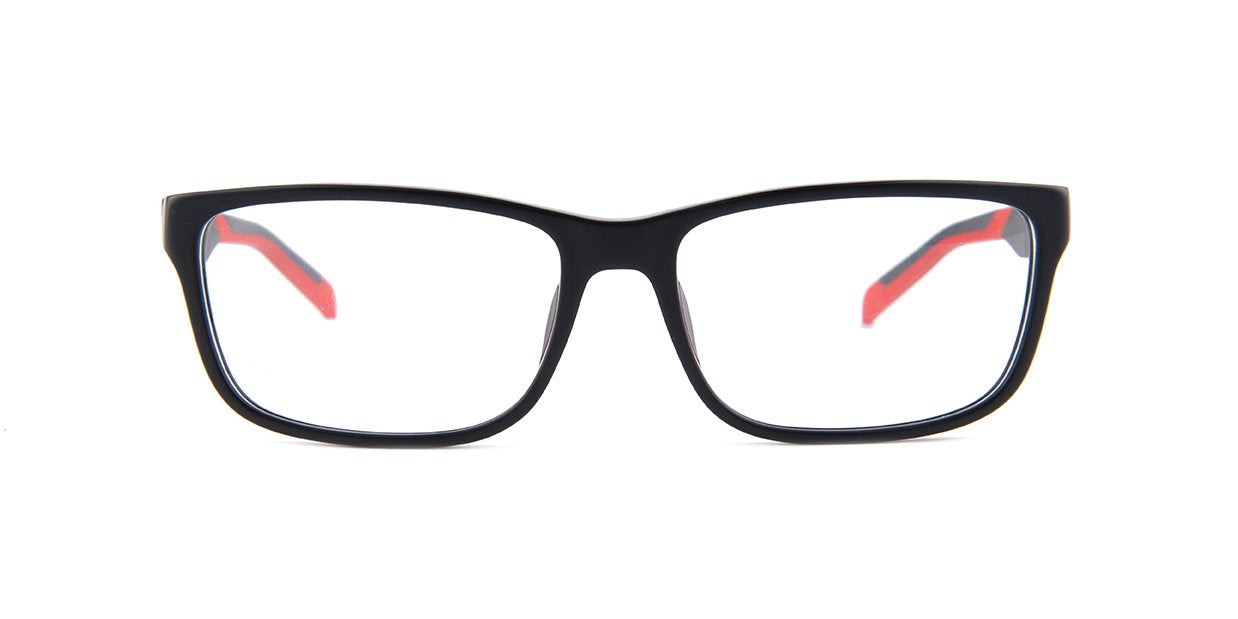 Tagheuer - TH0553 Black Rectangular Men Eyeglasses - 57mm-Eyeglasses-Designer Eyes