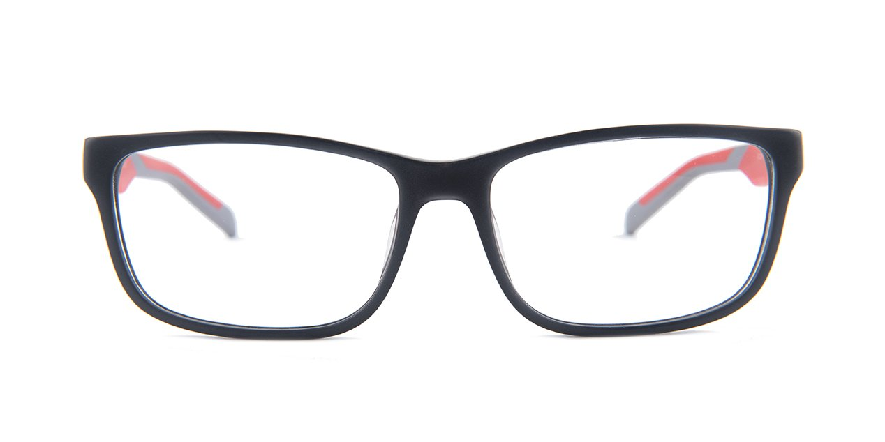 Tagheuer - TH0553 Gray Rectangular Men Eyeglasses - 57mm-Eyeglasses-Designer Eyes