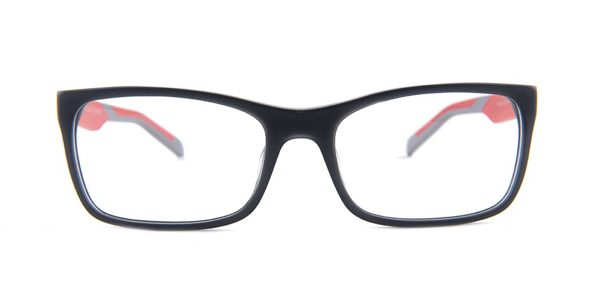 Tagheuer - TH0554 Gray Rectangular Men Eyeglasses - 56mm-Eyeglasses-Designer Eyes