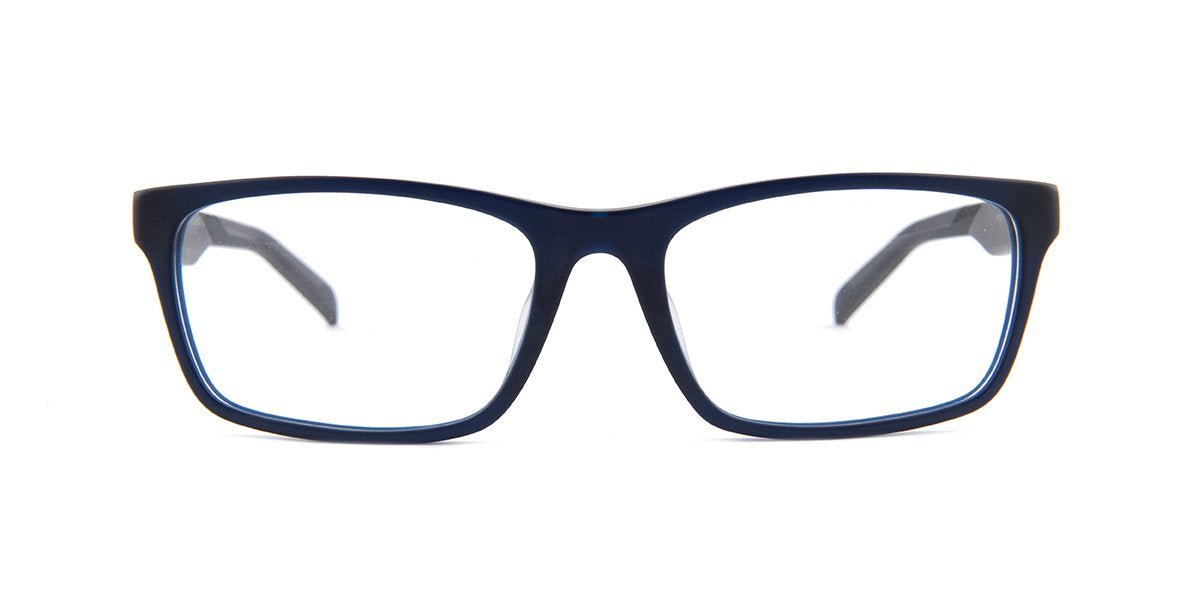 Tagheuer - TH0555 Blue Rectangular Men Eyeglasses - 57mm-Eyeglasses-Designer Eyes