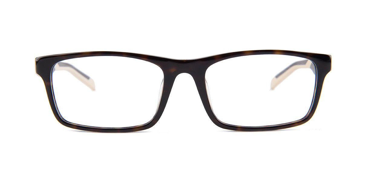 Tagheuer - TH0555 Tortoise Rectangular Men Eyeglasses - 55mm-Eyeglasses-Designer Eyes