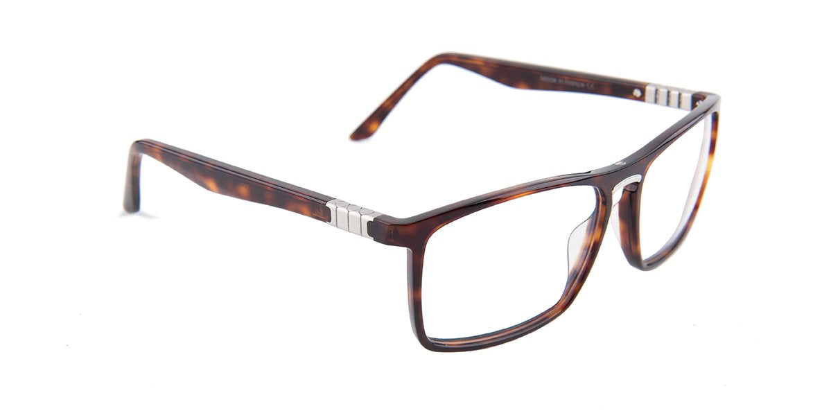 Tagheuer - TH9351 Tortoise Rectangular Men Sunglasses - 58mm-Sunglasses-Designer Eyes