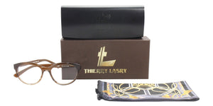 Thierry Lasry - Profily Brown Oval Women Eyeglasses - 54mm-Eyeglasses-Designer Eyes