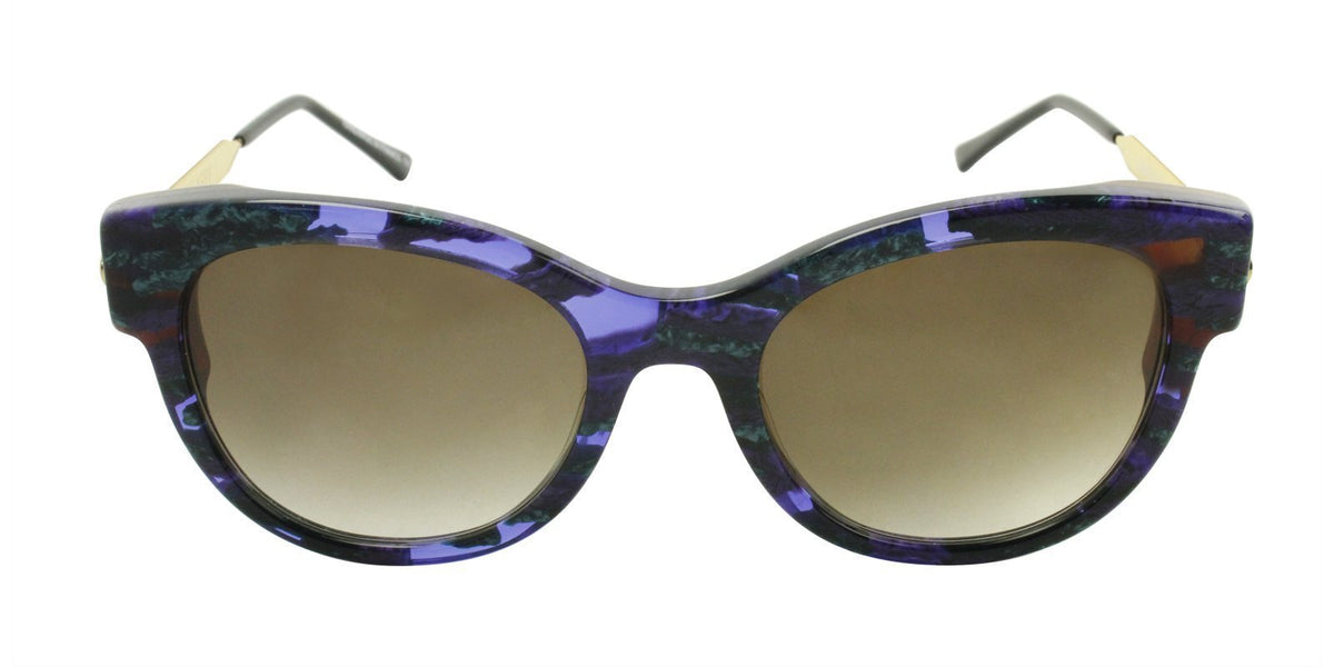 Thierry Lasry - Angely Purple/Green Oval Women Sunglasses - 53mm-Sunglasses-Designer Eyes