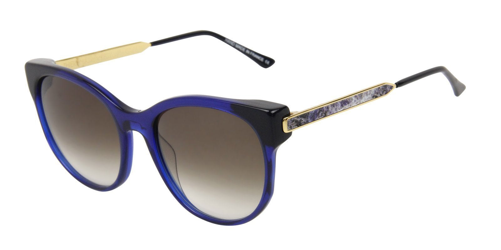 Thierry Lasry - Anorexxxy Blue Oval Women Sunglasses - 56mm-Sunglasses-Designer Eyes